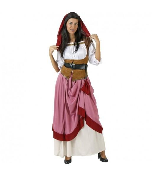 Costume da Locandiere medievale rosso per donna