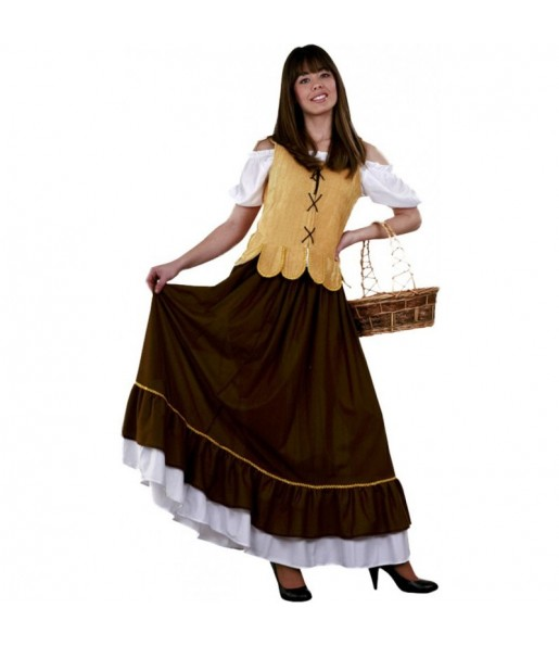 Travestimento Locandiera do medievo donna per divertirsi e fare festa del Medievo