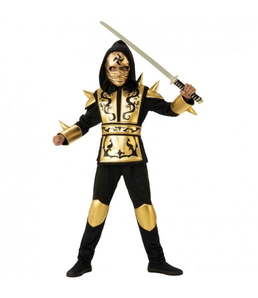 Travestimento Ninja Drago dorato bambino che più li piace