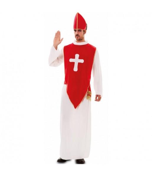 Travestimento vescovo rosso adulti per una serata in maschera