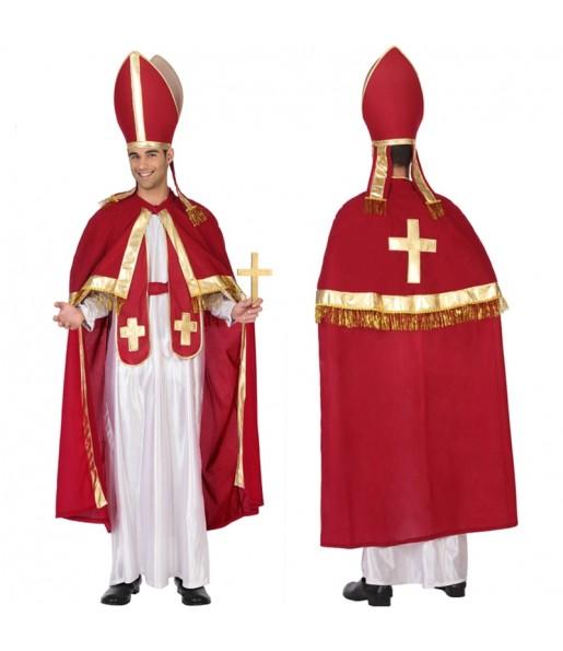 Travestimento Papa rosso e oro adulti per una serata in maschera