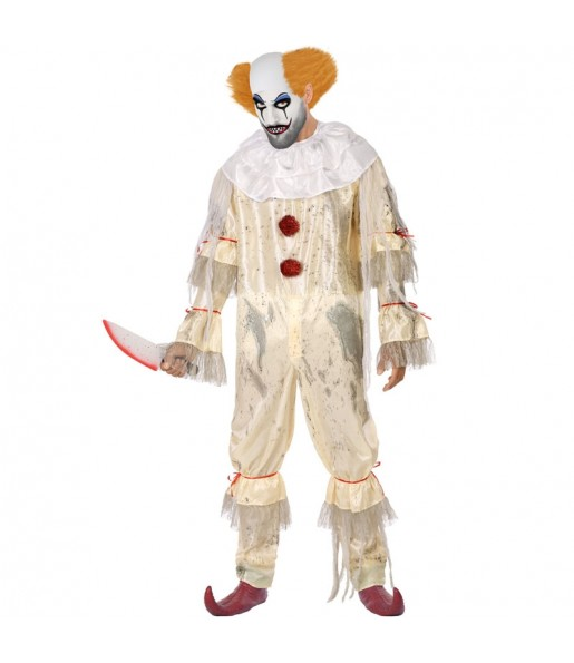 Travestimento Pagliaccio sanguinante adulti per una serata ad Halloween