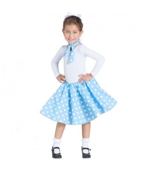 Travestimento Anni 50 blu bambina che più li piace