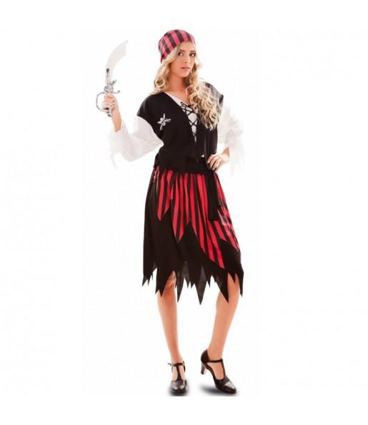 Travestimento Pirata Avventuriera donna per divertirsi e fare festa