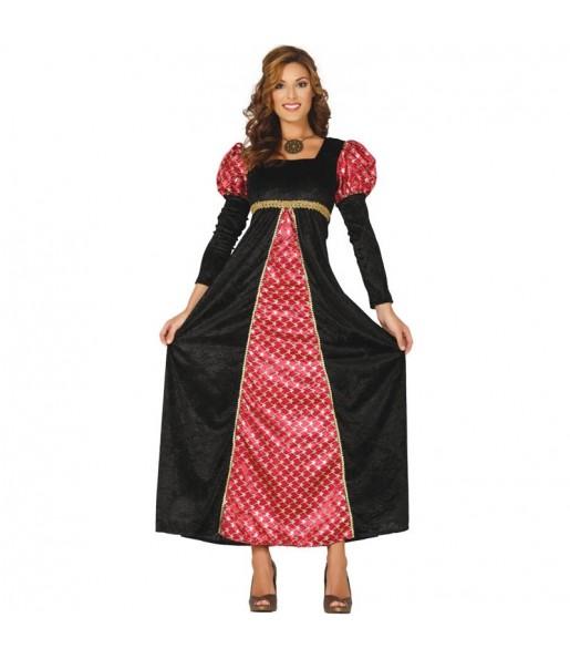 Travestimento Principessa di corte medievale donna per divertirsi e fare festa del Medievo