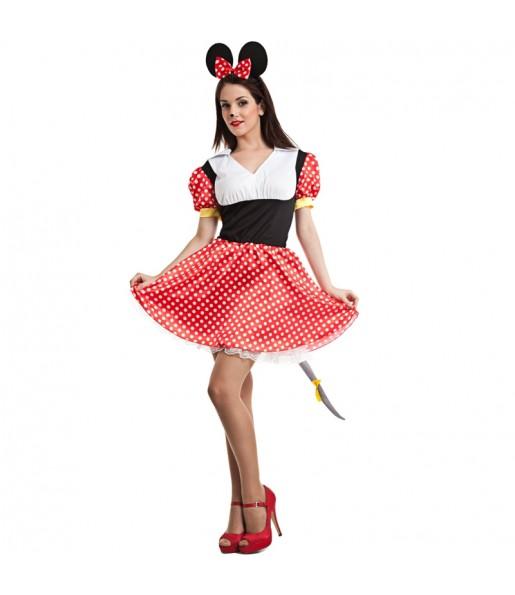 Travestimento Topolina Minnie Mouse donna per divertirsi e fare festa