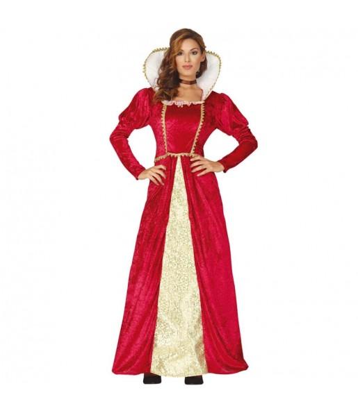 Travestimento Regina del Rinascimento donna per divertirsi e fare festa