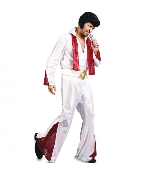 Travestimento Rocker Elvis adulti per una serata in maschera