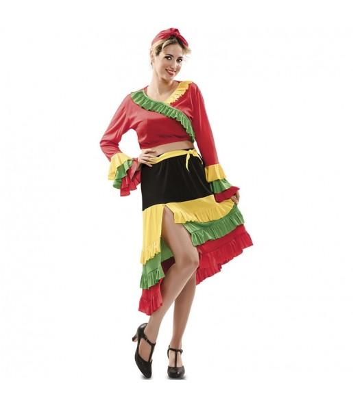Costume da Rumba multicolore per donna