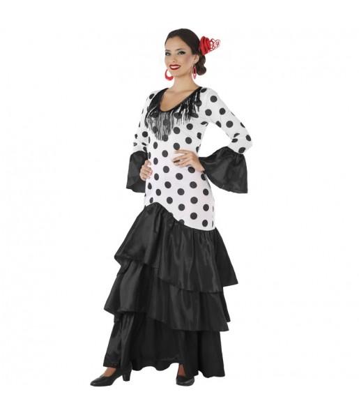 Travestimento Sevillana Macarena donna per divertirsi e fare festa