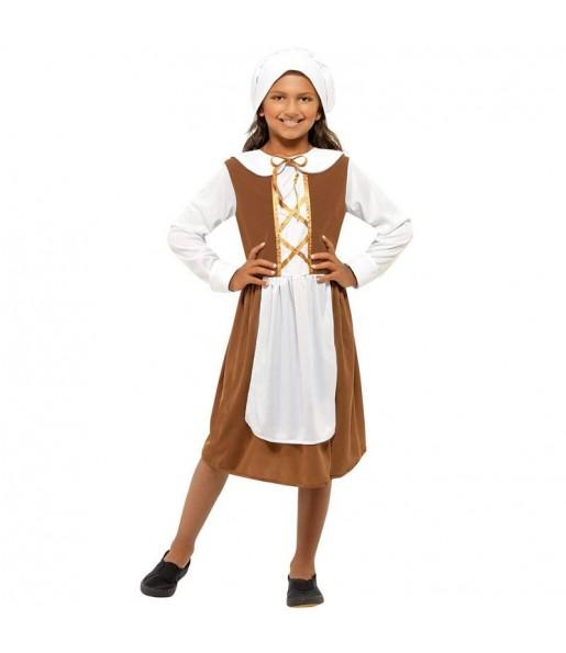 Travestimento Serva medievale Tudor bambina che più li piace