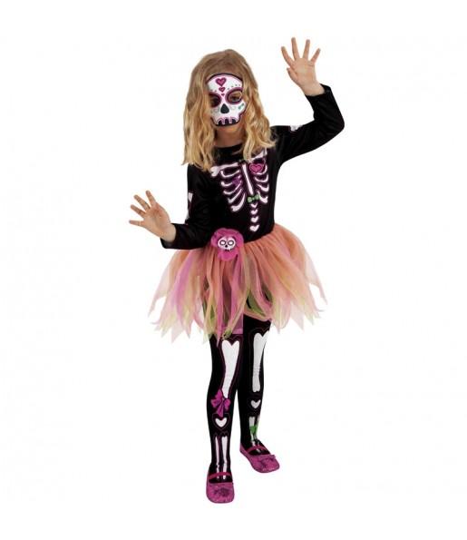 Vestito Skelita tutù bambine per una festa ad Halloween