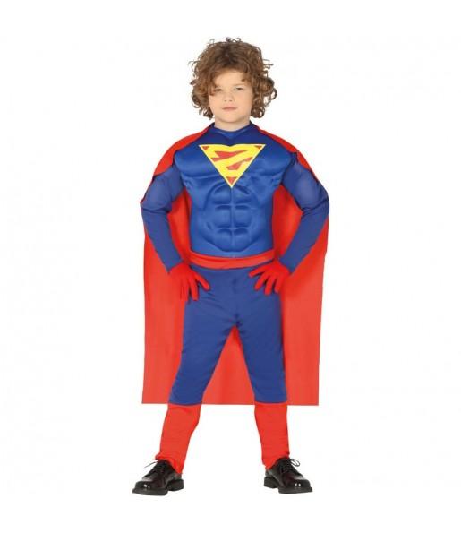 Travestimento supereroe muscoloso classico bambino che più li piace