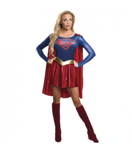 Travestimento Supergirl di Lusso donna per divertirsi e fare festa