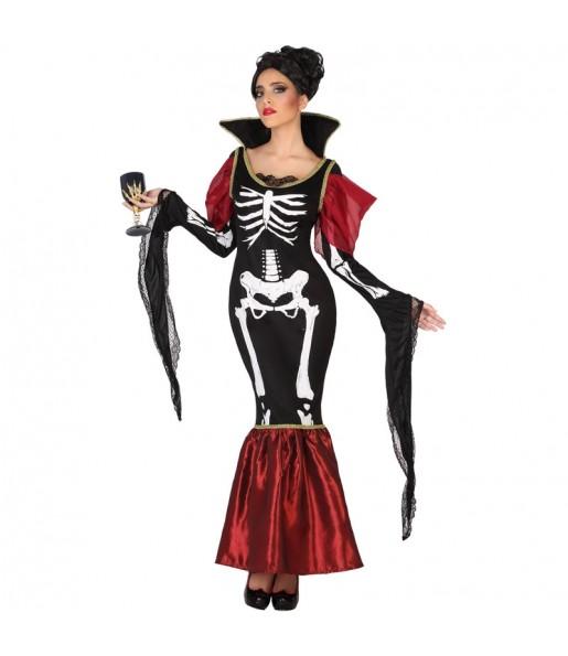 Costume Vampira Scheletro donna per una serata ad Halloween