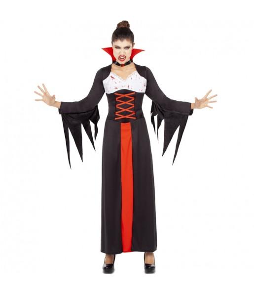 Costume Vampira sanguinante donna per una serata ad Halloween