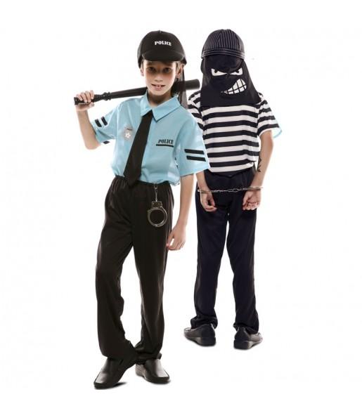 Travestimento doppio da Poliziotto e Ladro bambino che più li piace
