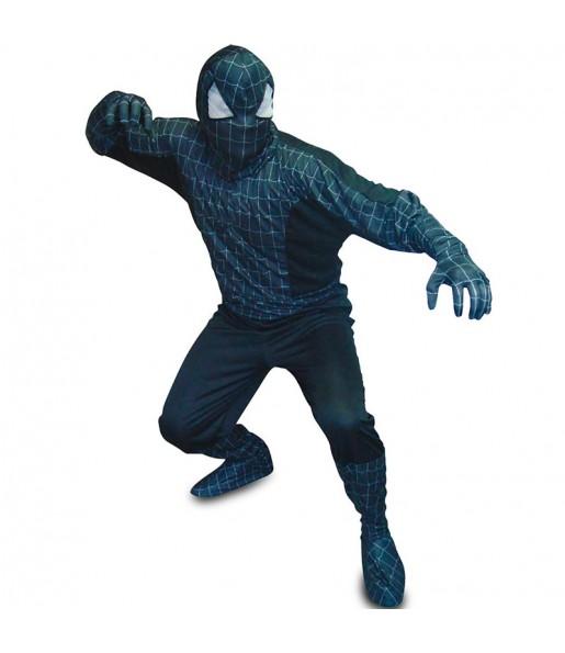 Travestimento Spider Hero nero adulti per una serata in maschera