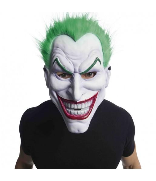 Maschera Joker in PVC con Capelli