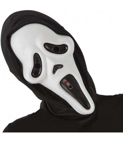 Maschera Scream con cappuccio per poter completare il tuo costume Halloween e Carnevale