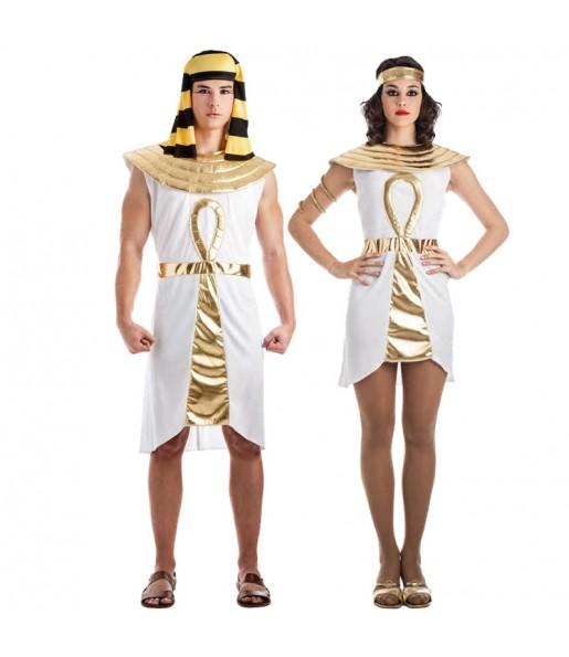 Travestimenti coppia egiziani d'oro divertenti per travestirti con il tuo partner