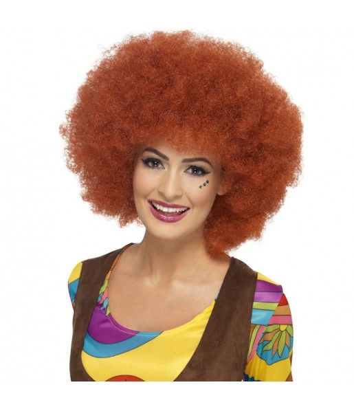 La più divertente Parrucca afro castagna per feste in maschera