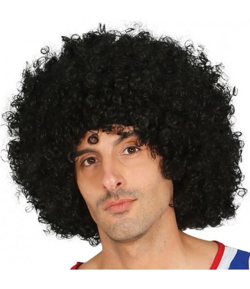 La più divertente Parrucca nera afro per feste in maschera