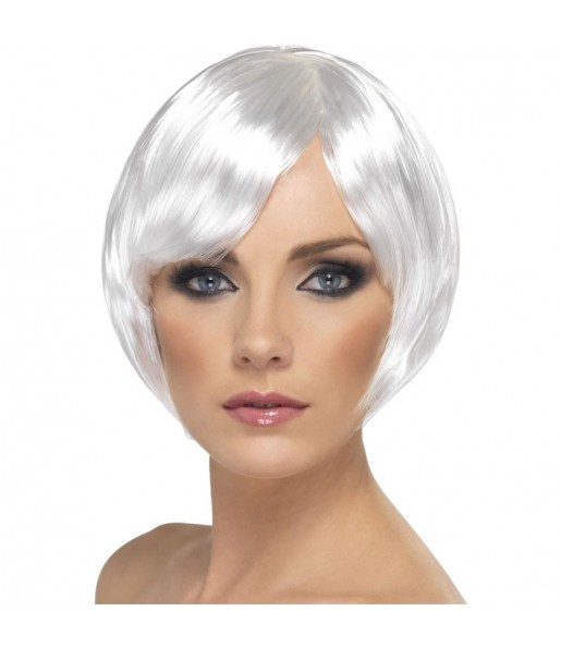 La più divertente Parrucca Bob bianca per feste in maschera