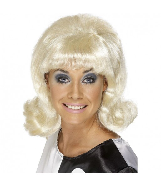 La più divertente Parrucca Flick-up anni '60 bionda per feste in maschera