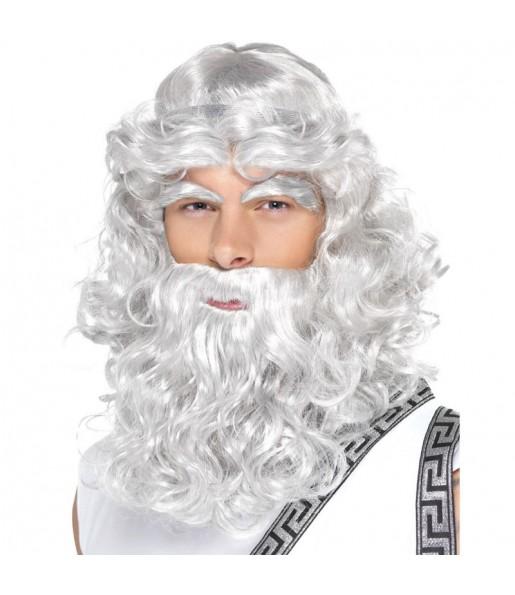 La più divertente Parrucca Nettuno con barba per feste in maschera