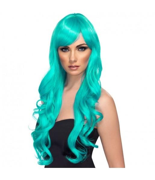 La più divertente Parrucca ondulata blu per feste in maschera