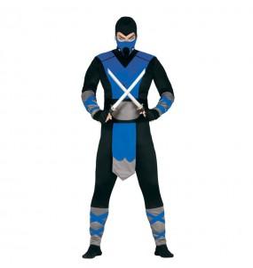 Travestimento Ninja del ghiaccio adulti per una serata in maschera
