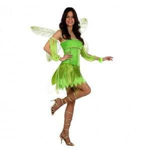 Travestimento Fata verde donna per divertirsi e fare festa