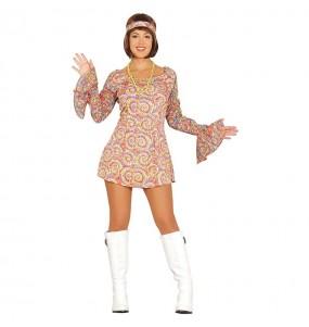 Travestimento Disco retrò anni '80 donna per divertirsi e fare festa