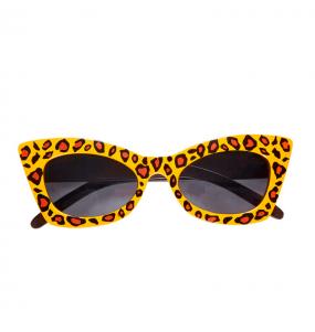 I più divertenti Occhiali Rockabilly Leopard per feste in maschera