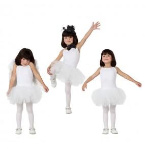Travestimento Ballerina - Bianco bambina che più li piace