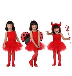 Travestimento ballerina - Rosso bambina che più li piace