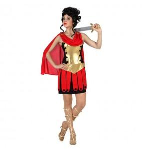 Travestimento Guerriera Romana Dorata donna per divertirsi e fare festa