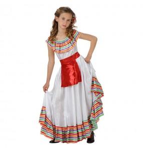 Travestimento Messicana Multicolore bambina che più li piace