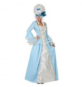 Travestimento Dama Veneziana Blu donna per divertirsi e fare festa