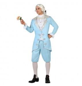 Travestimento Veneziano Cavaliere Blu adulti per una serata in maschera