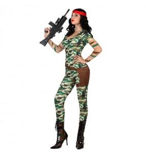 Travestimento Militare sexy donna per divertirsi e fare festa