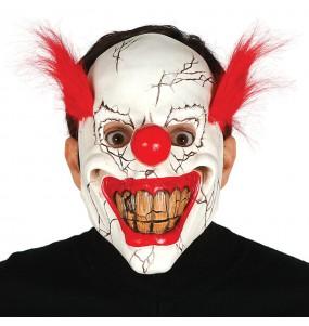 Maschera Pagliaccio Assassino per poter completare il tuo costume Halloween e Carnevale