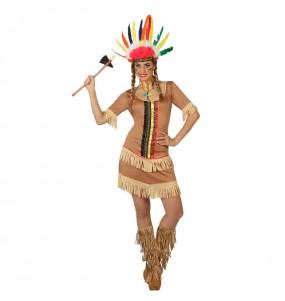 Travestimento Indiana Colori donna per divertirsi e fare festa