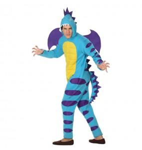 Travestimento Drago blu adulti per una serata in maschera