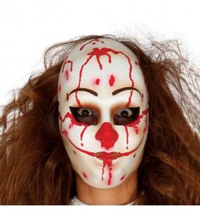 Maschera pagliaccio omicida per poter completare il tuo costume Halloween e Carnevale