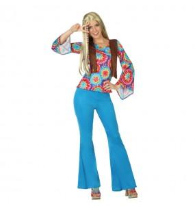 Travestimento Hippie Flower donna per divertirsi e fare festa