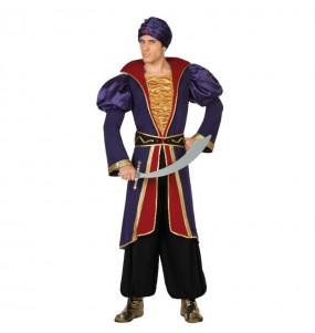 Travestimento Principe Arabo Jafar adulti per una serata in maschera