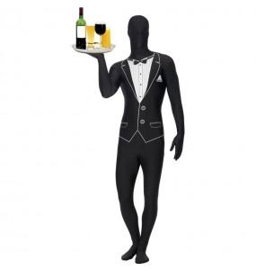 Travestimento Cameriere smoking - Seconda pelle adulti per una serata in maschera
