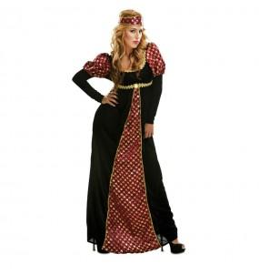 Travestimento Principessa medievale donna per divertirsi e fare festa del Medievo